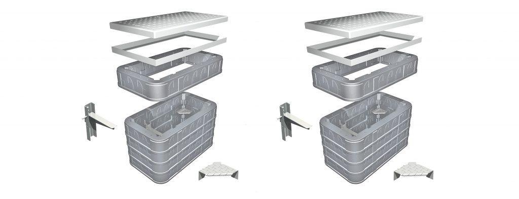 STAKKAbox Quad | Access Chamber Systems | Rouden Pipetek